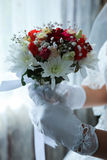 Red Wedding Bouquet Stock Photography