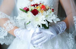 Red Wedding Bouquet Stock Images