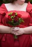 Red wedding bouquet flower arrangement royalty free stock images