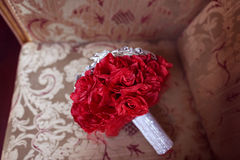 Red wedding bouquet Royalty Free Stock Photos
