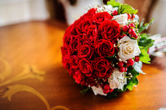 Red wedding bouquet Royalty Free Stock Photo
