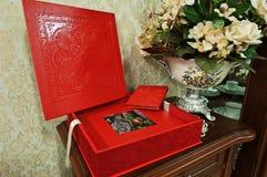 Free Red Wedding Photo Book Stock Photo - 54496120