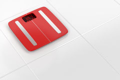 Red weight scale Stock Image