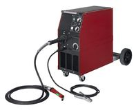 Red welding apparatus. Studio photography of a red and black welding apparatus in white back Royalty Free Stock Photos