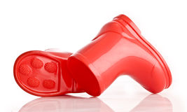 Red Wellie Boots Royalty Free Stock Image