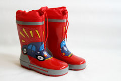 Red Wellington Boots Royalty Free Stock Image