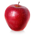 Red wet apple. Stock Photos