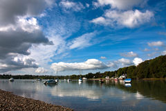 Red Wharf Bay and boats Royalty Free Stock Images