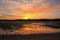 Red Wharf Bay at sunset Royalty Free Stock Photo