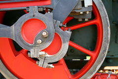Red Wheel Royalty Free Stock Photos