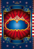 Red wheel circus. A new circus background for your show royalty free illustration