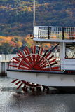 Red wheel of old steamboat Stock Image