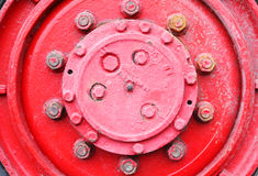 Red Wheel truck. Royalty Free Stock Photos