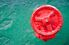A red wheel valve Royalty Free Stock Photography