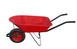 Red Wheelbarrow Stock Photography