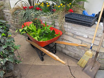Red Wheelbarrow Royalty Free Stock Images
