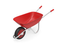 Red wheelbarrow. On white background Royalty Free Stock Image