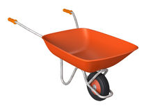 Red wheelbarrow. Isolated on a white background stock illustration