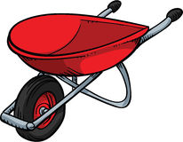 Red Wheelbarrow Royalty Free Stock Photo