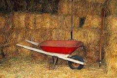 Red Wheelbarrow, Straw Bales