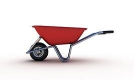 Red wheelbarrow Royalty Free Stock Image