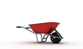Red wheelbarrow Stock Photos