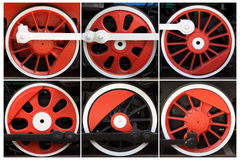 Red wheels. Royalty Free Stock Photo