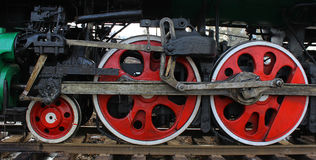 Red Wheels Royalty Free Stock Photos