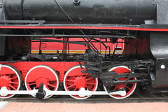 Red Wheels of a old train Royalty Free Stock Photography