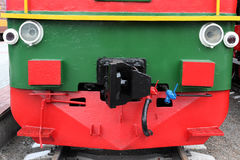 Red Wheels of a old train Royalty Free Stock Photos