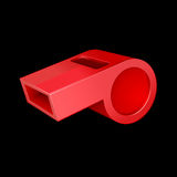 Red whistle Stock Image
