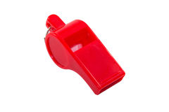 Red whistle Royalty Free Stock Photo