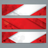 Red and white abstract background banner. Collection banner design royalty free illustration