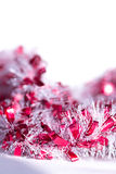 Red and white abstract Christmas decoration background Stock Photos