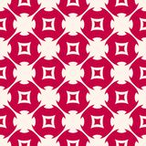 Red and white abstract floral seamless pattern in Asian style. Vector texture with flower shapes, geometric figures, grid, lattice. Elegant festive background stock illustration