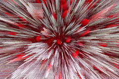 Red and white abstraction like explosion Royalty Free Stock Photos