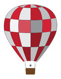 Red white air balloon Stock Image