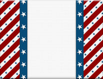 Red and White American celebration frame Royalty Free Stock Images