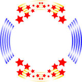 Red White And Blue Circle Background Frame Royalty Free Stock Image