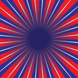 Red White And Blue Rays Stock Images