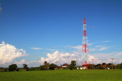 Red and white antenna Royalty Free Stock Images