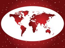 Red and white background Stock Photography