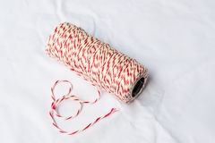 Red and white baker's twine spool Stock Photography