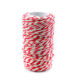 Red and white baker`s twine spool for packaging mail box isolate. Red and white baker`s twine spool for packaging mail box royalty free stock images