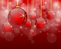 Red and white ball. Red and white backround and christmas ball Royalty Free Stock Photography