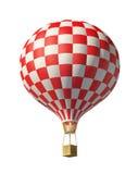 Red-white balloon. Isolated on white 3d red-white balloon Stock Photos