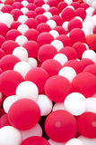 Red and white balloon wall Royalty Free Stock Photography
