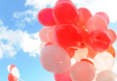 Red and white balloons Royalty Free Stock Images