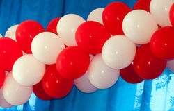 Red and white balloons Stock Photo