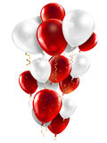 Red and white balloons Stock Image